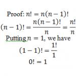 proof zero factorial