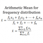 arithmetic mean for frequency distribution a